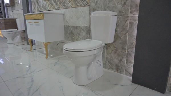 IDEVIT Stand Dusch WC Bodenstehend Taharet WC Set