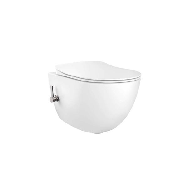 Creavit FE322 Rim-Off Dusch WC inkl Kaltwasser Armatur und Softclose Deckel